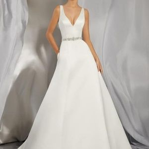 Size 14 Morilee Ivory Satin Wedding Gown